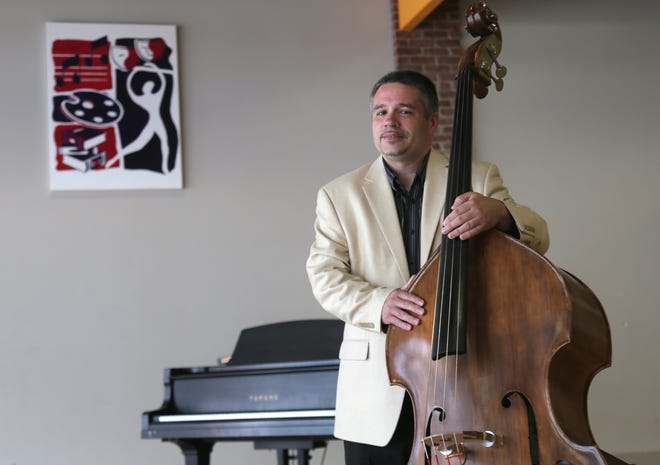 Paul Martin is a bass player and is part of the jazz concert series at the Richland Academy of the Arts.