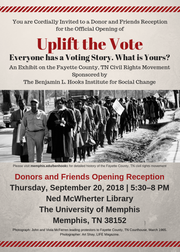 Uplift the Vote exhibit