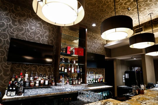 The bar area of Chef Judd Grisanti's new Ronnie Grisanti's Restaurant in the Regalia Shopping Center. Chris Backey, who was a bartender at the original Ronnie Grisanti's, is in charge of the bar and wine program.