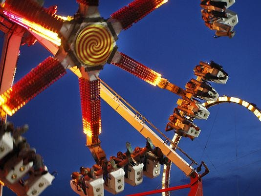 The rides still  thrill at the Mid-South Fair.