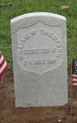 William Thompson, a veteran of the Civil War, was recognized with a gravestone by the St. Francis Historical Society in September 2018.