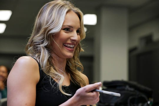 Katie George was a college volleyball star, and television reporter in Louisville, Kentucky.