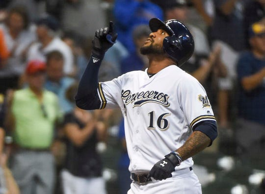 Upon his return, Domingo Santana emerged as the Brewers' top bat off the bench, hitting.409 (9 for 22) with two homers and three RBI in September.