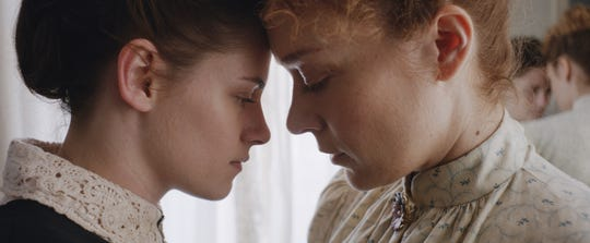 "Kristen Stewart plays a maid who opens up new hope for Lizzie Borden (Chloe Sevigny) in ""Lizzie."""