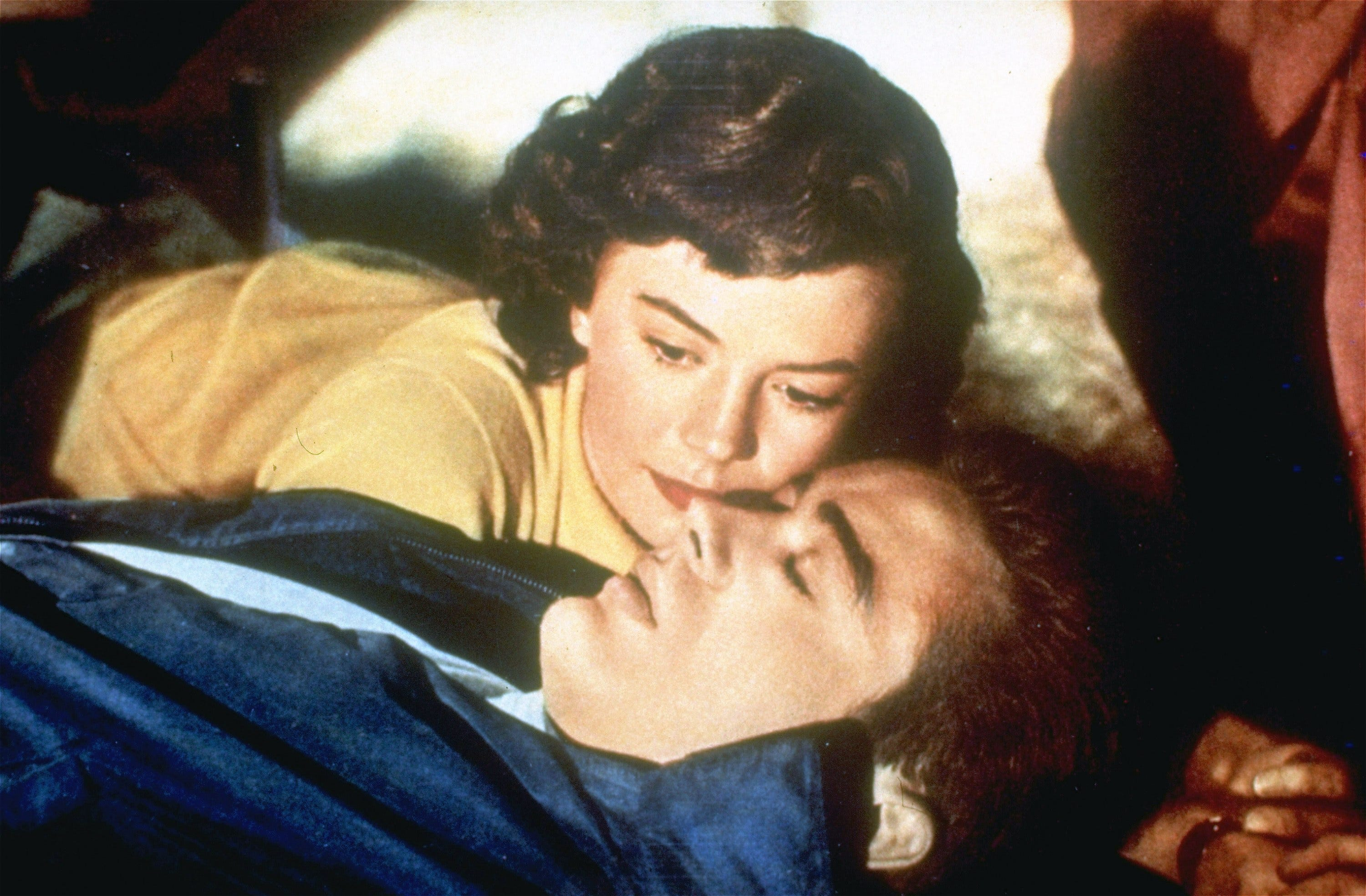 "Natalie Wood and James Dean discover they're both in need of rescuing in the 1955 melodrama ""Rebel Without a Cause""."