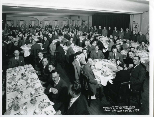 The Waukesha Chamber of Commerce's annual meeting in 1947. The organization later became the Waukesha County Business Alliance, which recently celebrated its 100th annual meeting. Source: