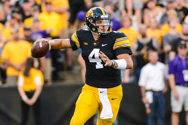 Iowa quarterback Nate Stanley is a graduate of Menomonie High School.