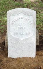 William Beal, a veteran of the Civil War, was recognized with a gravestone by the St. Francis Historical Society in September 2018.