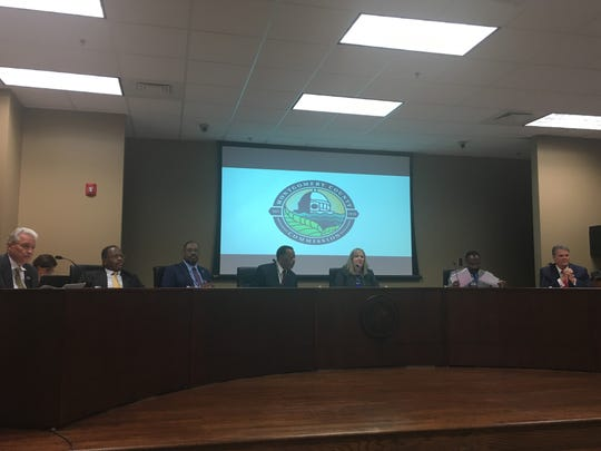 Montgomery County Commissioners at their meeting in Pike Road on Monday, Sept. 17, 2018.