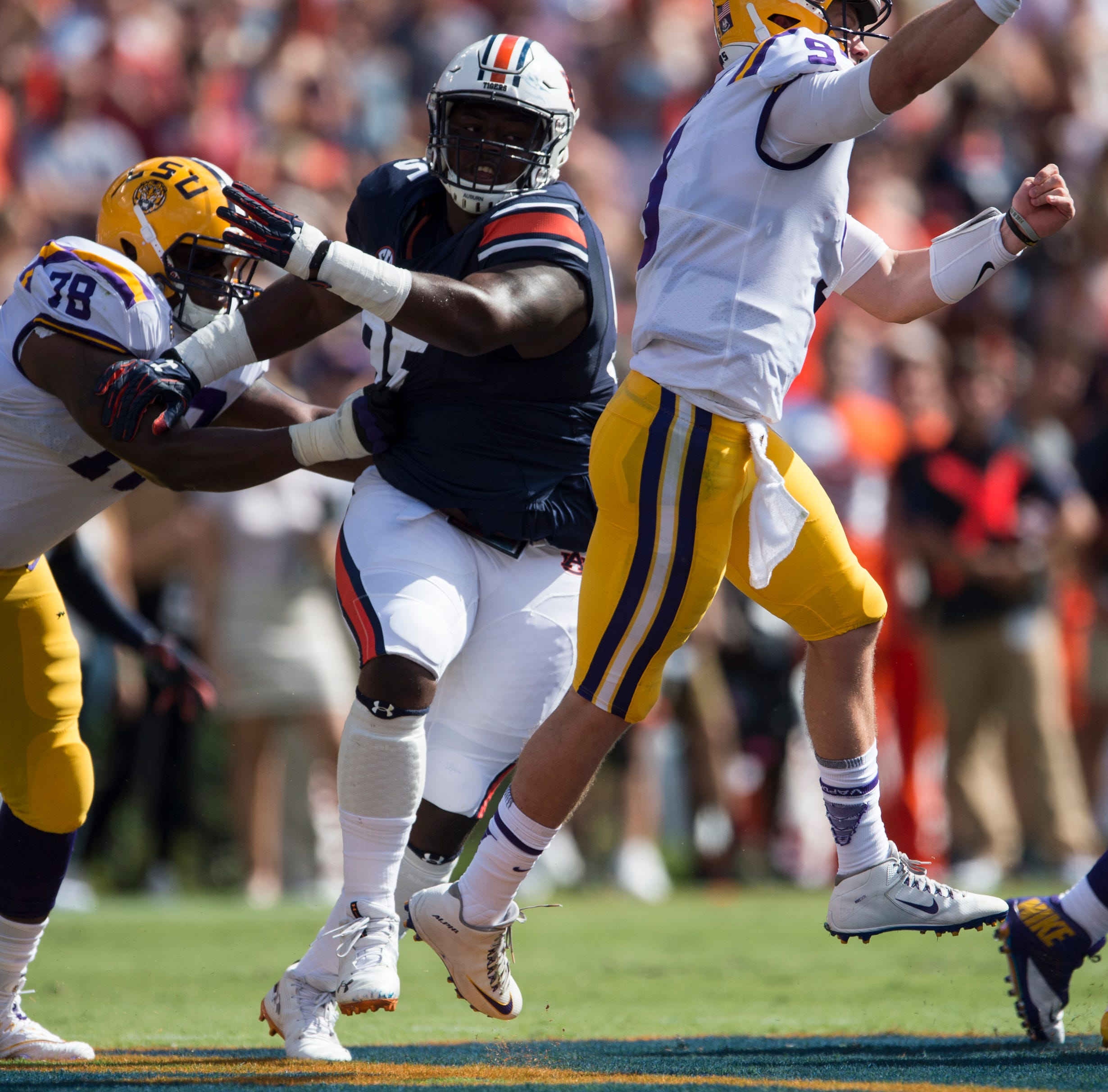 If being on LSU's offensive line is like a marriage, then Tigers had a honeymoon in Auburn