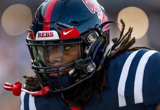 Ole Miss linebacker Kevontae' Ruggs (27) during warm ups before the Alabama game in Oxford, Ms., on Saturday September 15, 2018.