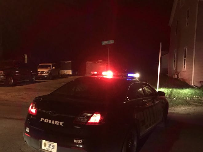 Muncie police investigate a stabbing between Mulberry and Jefferson streets on East 15th Street on the city's south side on Monday night.