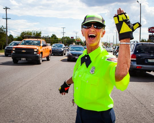 Murfreesboro Police Department crossing guard Claudia Russell has managed traffic at the entrance of Middle Tennessee Christian School for 25 years. Russell, who was recently featured on the talk show 'Pickler and Ben', said she just wants to put a smile on someone's face each day.