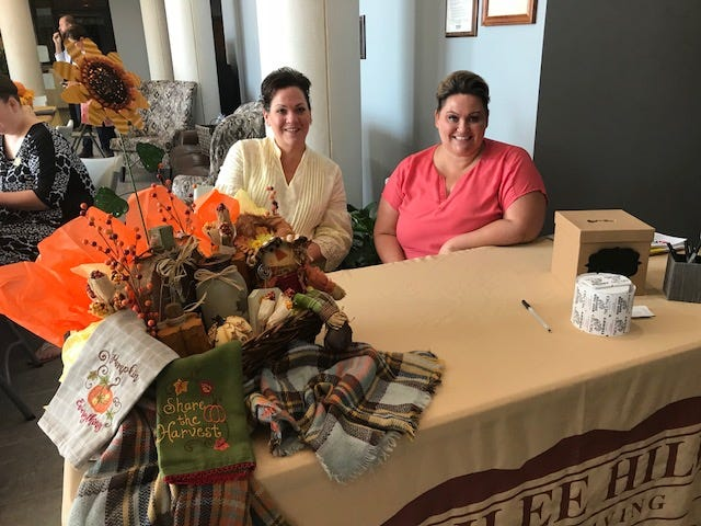 Kelly Stagg and Jill Wagoner spoke about Jubilee Hills, a new senior living facility opening this fall, at Goodlettsville's senior resource fair.