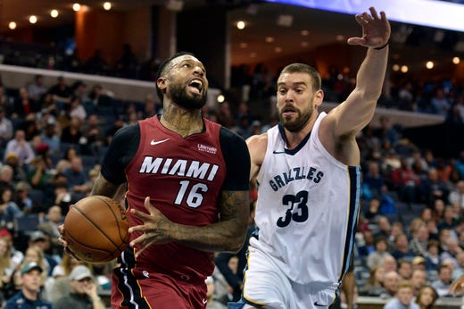 James Johnson, formerly Memphis Grizzlies, played last season for the Heat