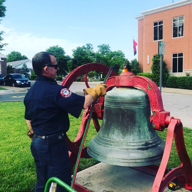 Gallatin Fire Capt. Mark Hall and other firefighters are working on a project to have its historic fire hall bell restored and prominently displayed.