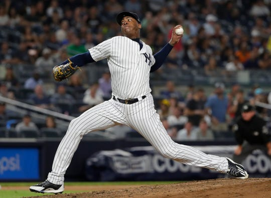 Aroldis Chapman, formerly of the Cubs, now with the New York Yankees