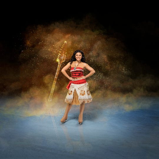 """The Disney on Ice production of """"Mickey's Search Party"""" will come to Germain Arena this weekend, featuring Moana and several other Disney characters."""