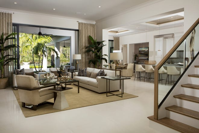 London Bay Homes' previously sold four-bedroom, 4,421 square feet under air Sonoma model in Caminetto at Mediterra is open for viewing by appointment only through November.