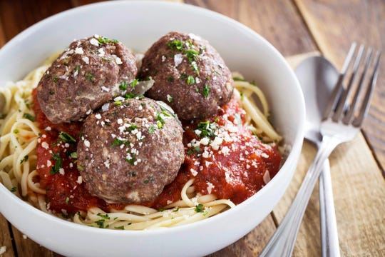 Italian-American Meatballs at Yana Eats in Naples.