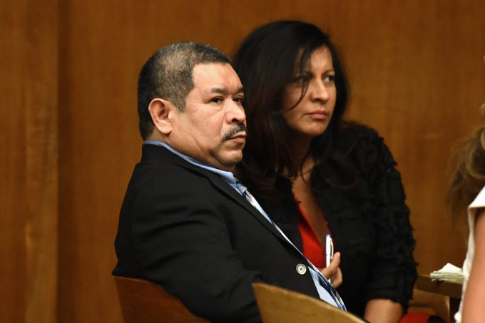 Alfredo Rosales, 53, of Englewood is on trial for several crimes, including aggravated sexual assault, criminal sexual contact, human trafficking and endangering the welfare of a child. Closing arguments were given in the case in Bergen County Superior Court on Tuesday, September 18, 2018. Rosales sits with a Spanish language translator.