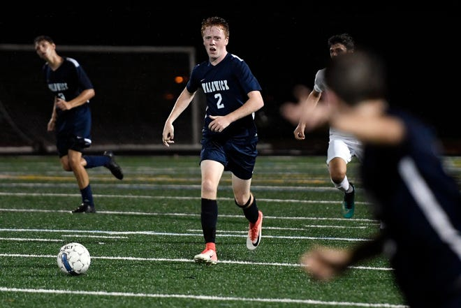Waldwick's John McHugh (2) looks for an open teammate during a game against Park Ridge in Waldwick, NJ on Monday, September 17, 2018.