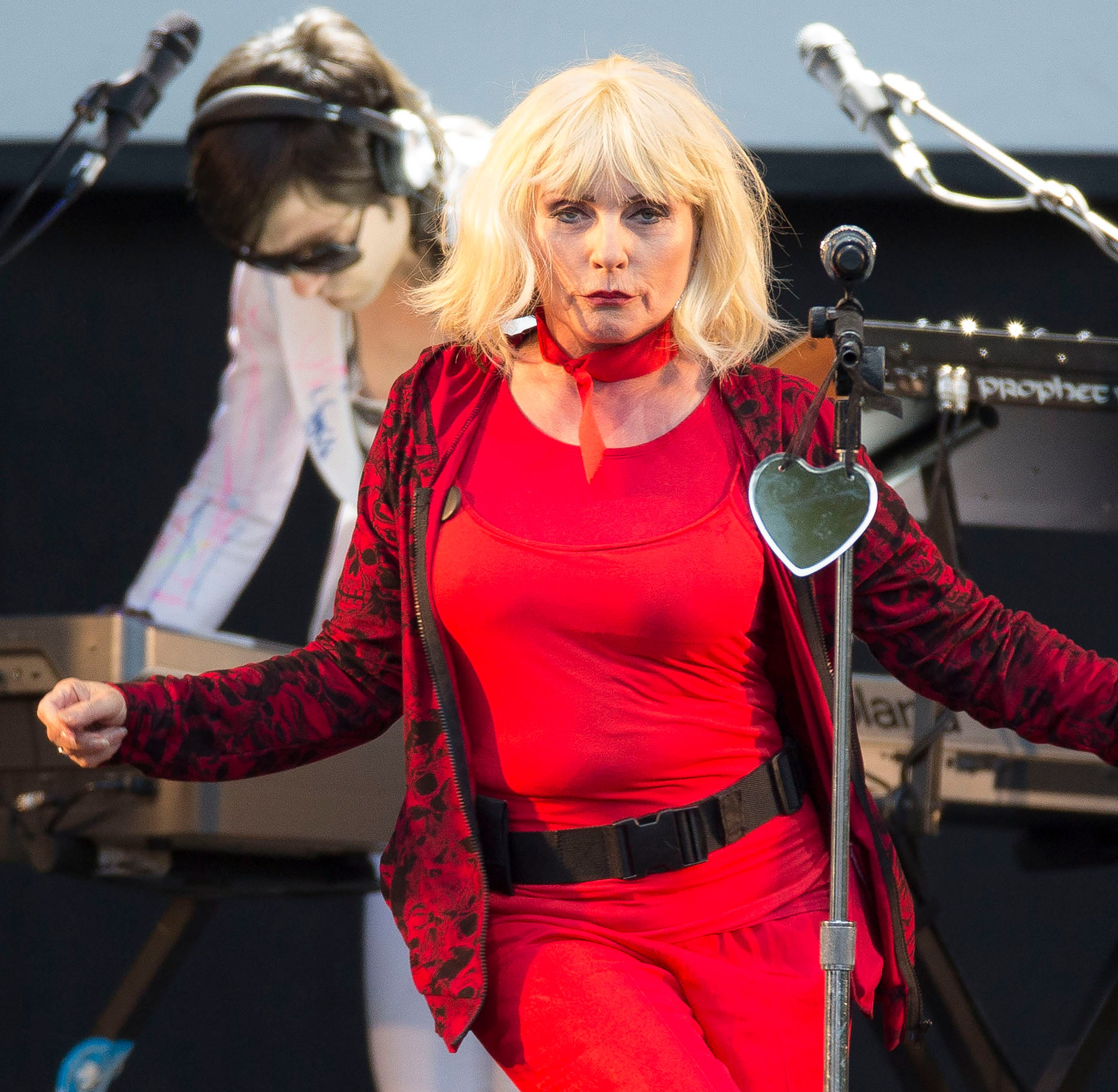 Debbie Harry, lead singer of Blondie, performs in England in 2014.
