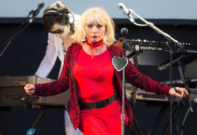 Debbie Harry, lead singer of Blondie, performs in England in 2014.