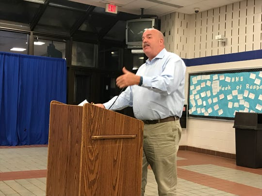 Montclair Public Schools Building and Grounds Director John Eschmann says  asbestos would not found in the high school's collapsed staircase before its demolition.