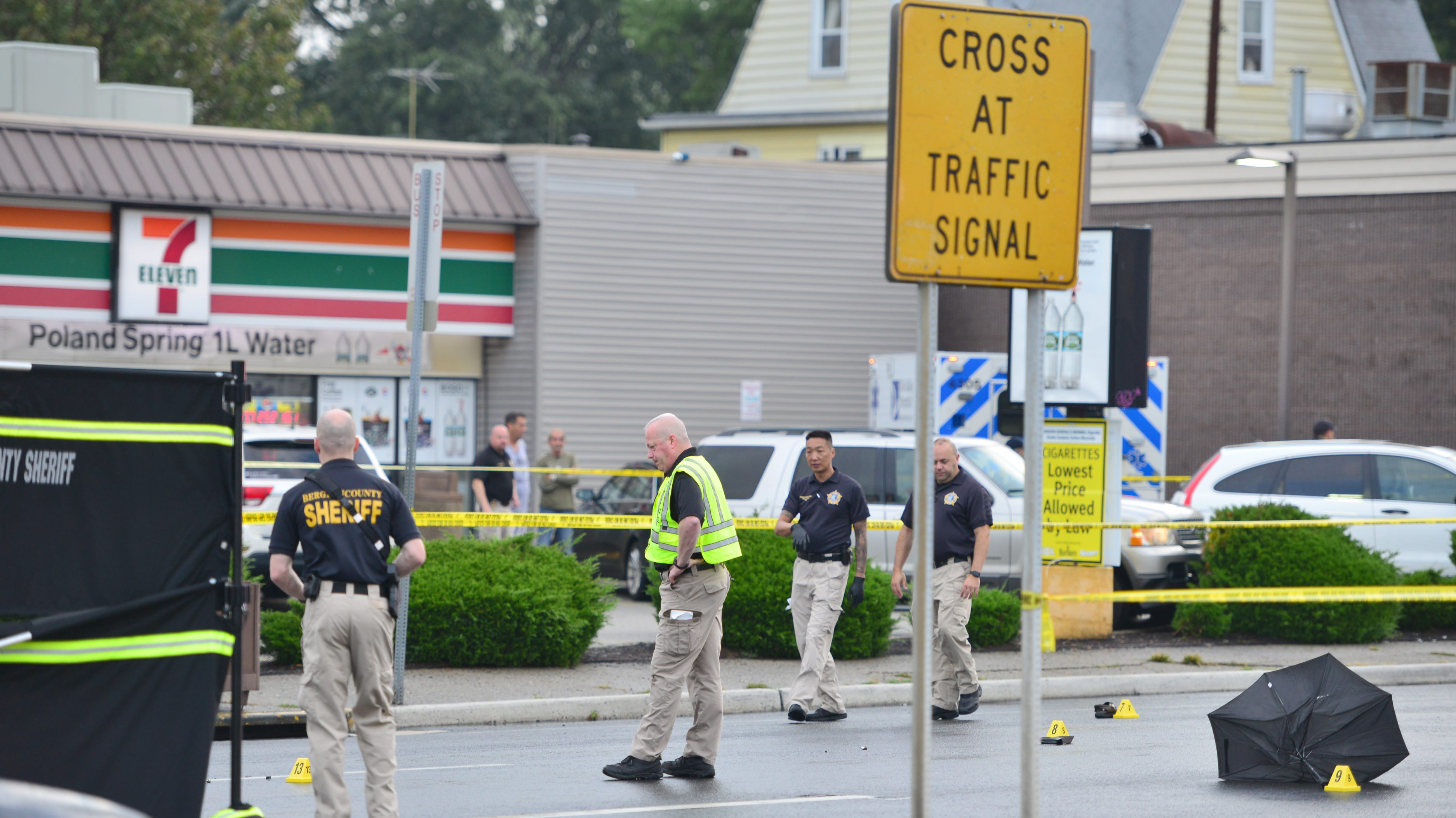 A pedestrian was struck and killed by a car while crossing Broadway in Elmwood Park, N.C. on Tuesday morning on September 18, 2018.