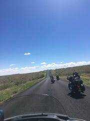 Members of the Fraternal Order of Eagles participated in a bistate run in early September that included a 168-mile round trip through New Mexico, with stops in Arrey, Caballo, Hillsboro and Nutt.