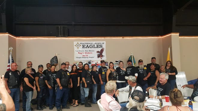 Four Arizona chapters and three New Mexico chapters of the Fraternal Order of Eagles gathered in early September to donate money, clothes and school supplies to the New Mexico Children, Youth & Families Department.