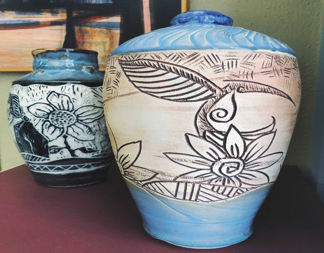 Artist Romaine Begay, who created these pots, will be among those featured in the Clay Arts Trail Fall Showcase.