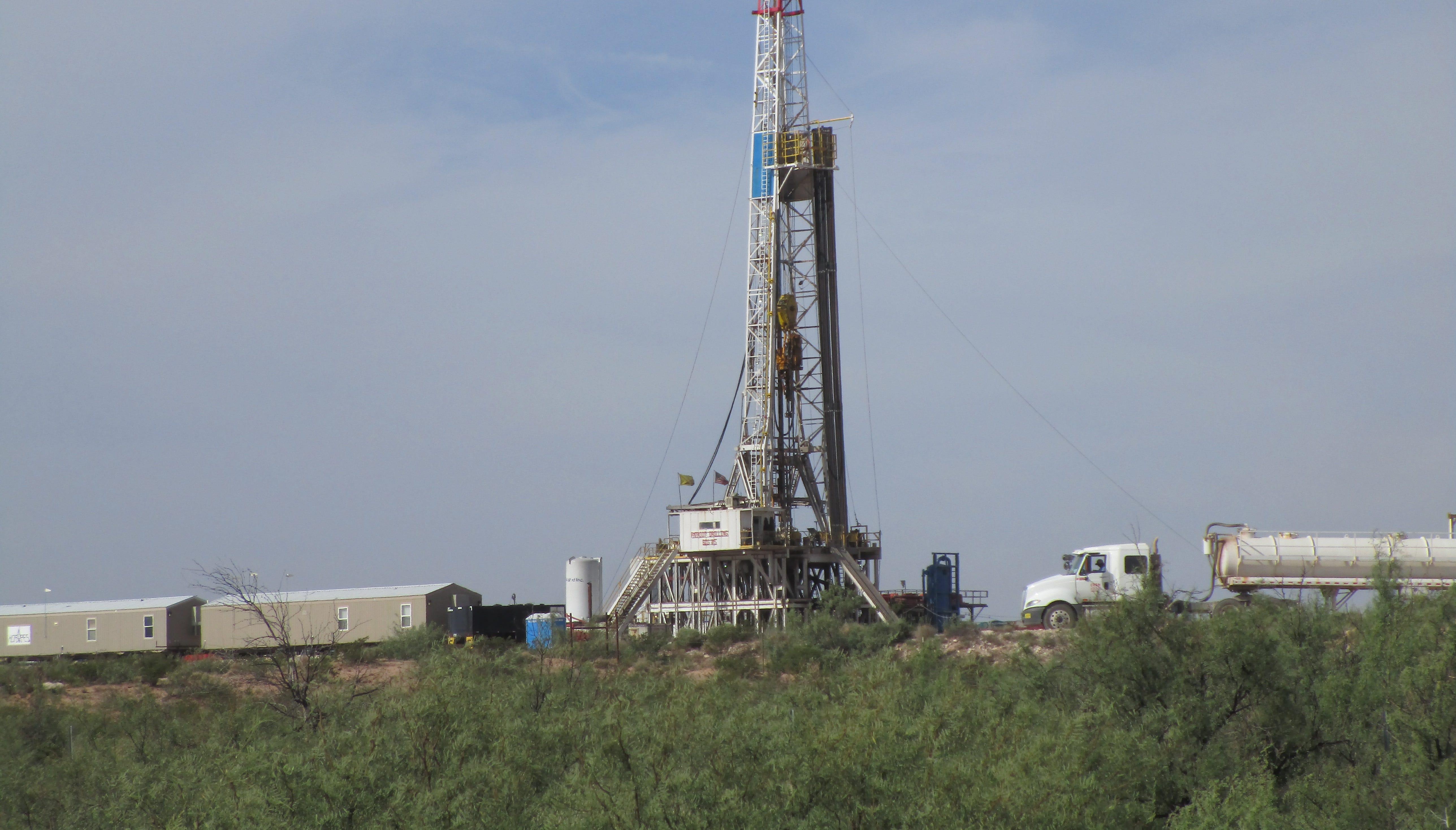 Patriot #5 drilling rig.