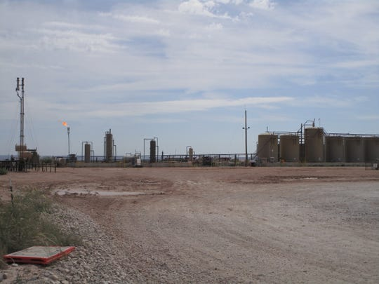 Marathon Oil Permian LLC Chicken Fry Fed Com #1H tank battery.
