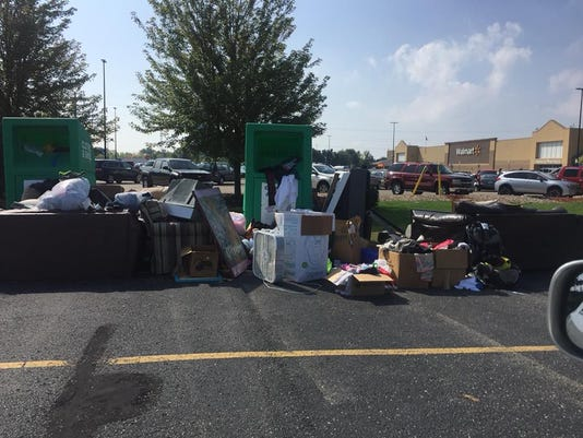 Junk pile near Walmart