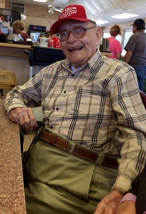 James P. Cooley will celebrate his 99th birthday on Saturday, Sept. 22, 2018.