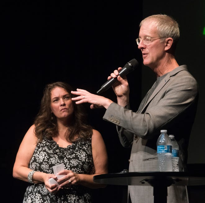 Jeff Speck, an urban planner and former director of design at the National Endowment for the Arts, discusses the importance of designing walkable cities during a Sept. 17, 2018, CivicCon presentation.