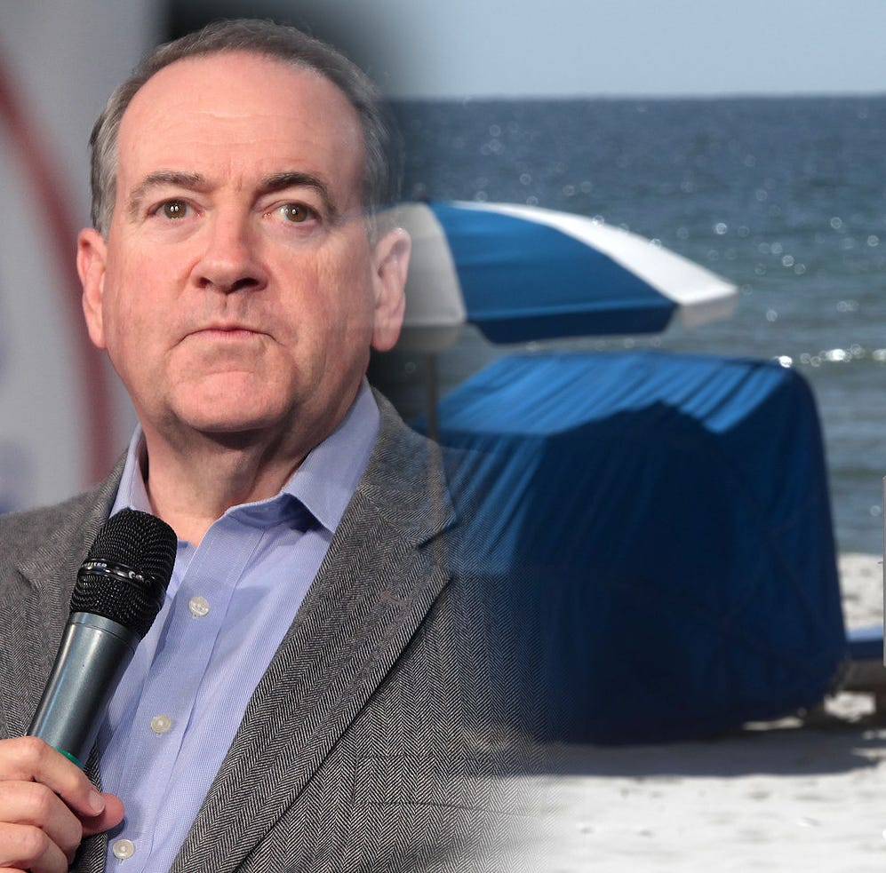 Mike Huckabee: Cartoonist gives fake news on beach law