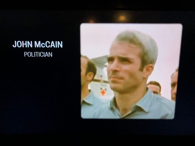 The late Sen. John McCain was recognized during the Emmy Awards Monday night.