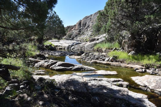 Secluded pockets of water add color to the high-desert trails.