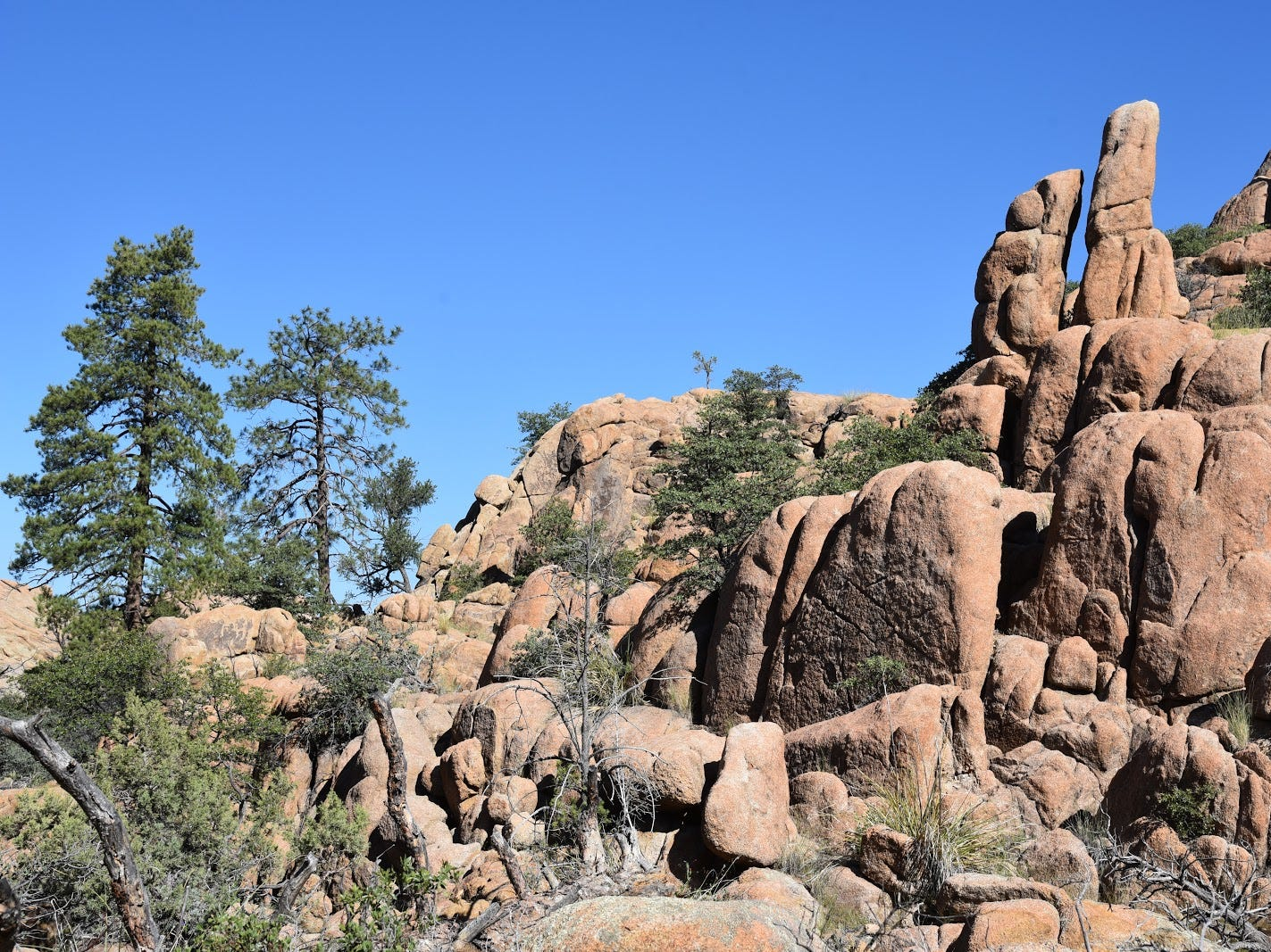 Curious rock formations on the Easter Island Trail in Prescott's Granite Dells.