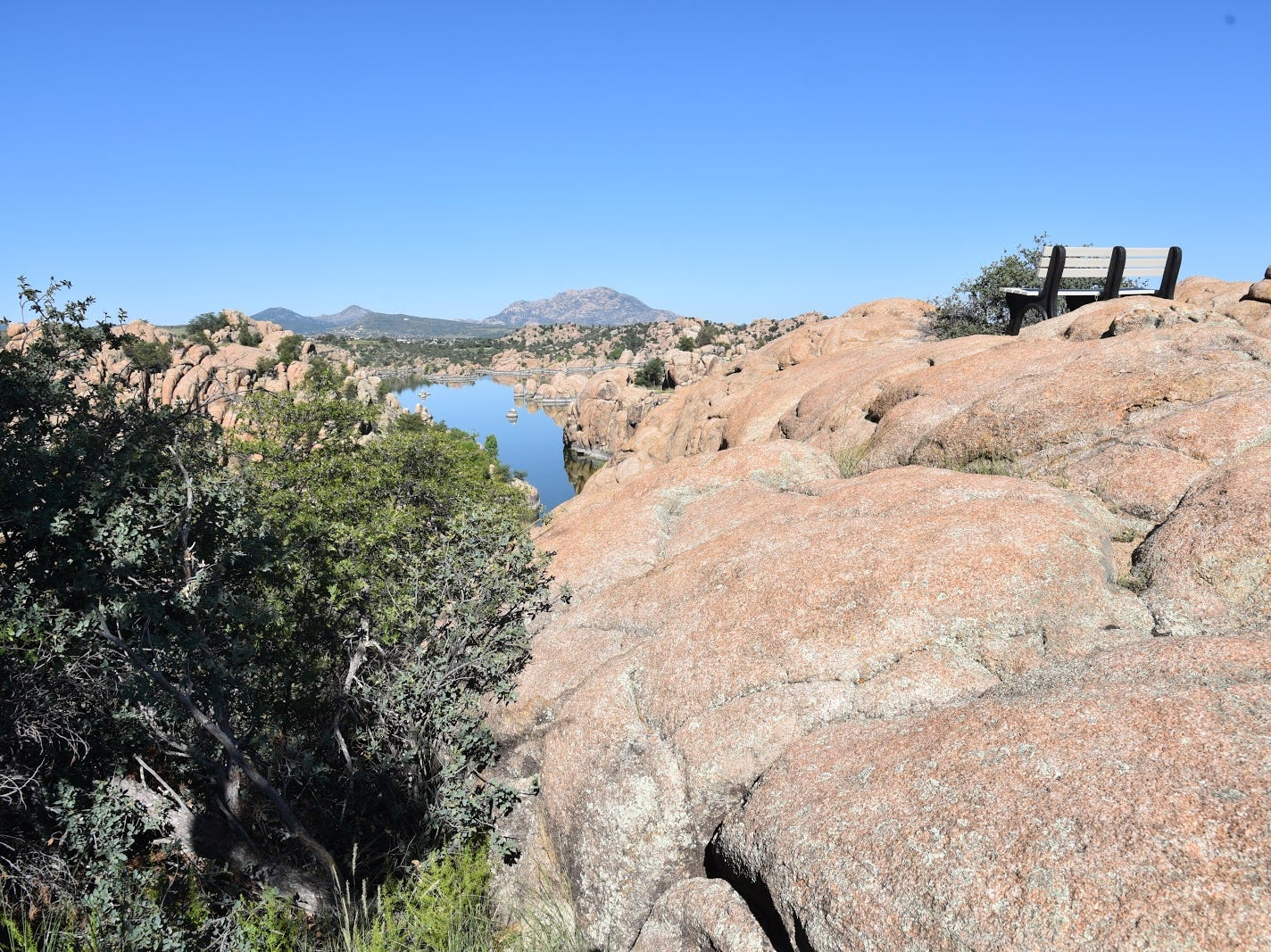 Scenic knoll with views of Watson Lake and Granite Mountain.