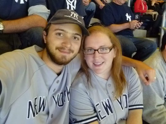 Bill Mahony and Brittany Morgan met during a podcast on their favorite sports team, the New York Yankees.