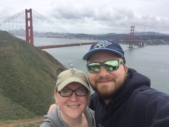 Bill Mahony and Brittany Morgan, who met during a podcast fan chat, enjoy traveling together.