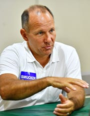 Rep. Lloyd Smucker, who is running for the 11th District, at York Fair in West Manchester Township, Saturday, Sept. 15, 2018. Dawn J. Sagert photo