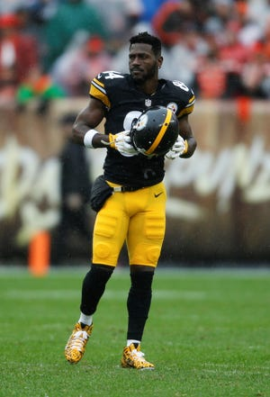 Pittsburgh Steelers wide receiver Antonio Brown has found himself in the middle of social media firestorm. AP FILE PHOTO