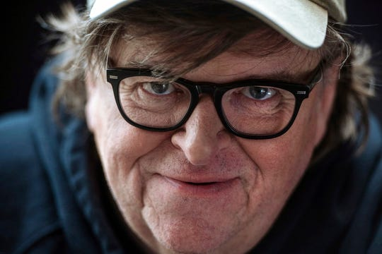 """Film director Michael Moore poses for a portrait while promoting his new movie, """"Fahrenheit 11/9,"""" during the Toronto International Film Festival. The movie opens Sept. 21 at Regal West Manchester Stadium 13 and R/C Hanover Movies."""