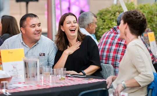 Royce and Mandy Aldridge enjoy a laugh with Jill Page at the 10th Annual Taste of the Valley event.