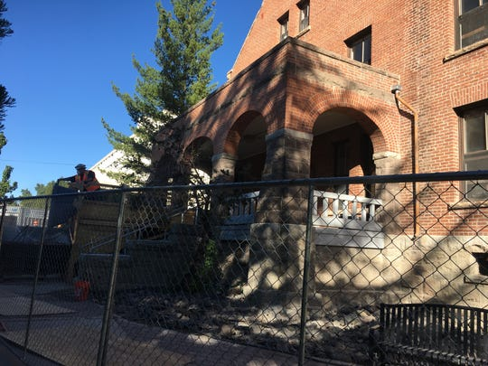 Construction of the University of Nevada, Reno's Manzanita Hall started in August. The building will be renovated back into to a residence hall.